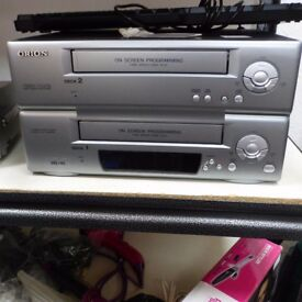 Orion Twin Tape VHS VCR Video cassette recorder and player Rare Retro