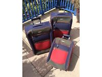 Set of 3 matching Redland Suitcases