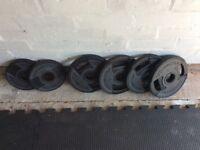 Technogym weighted plates (4 x 5kg & 2 x 2.5kg)