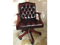 leather upholstered swivel chair