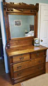 Antique Dresser and Bed Head/Foot Board