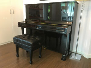 U3 upright Yamaha piano, excellent condition and beautiful sound