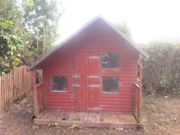 8x8 Childrens Wooden Playhouse Two Storey £175