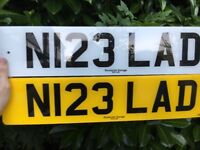 Private registration N123 LAD