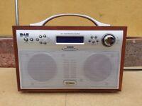 TECHNIKA DAB-206 DAB FM RADIO ALARM CLOCK PORTABLE BROWN RADIO