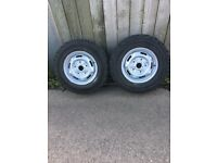 "205-80-R16 tyres on 16"" transit rims on & off road"