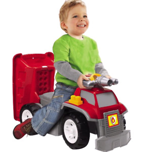 3 In 1 Mega Bloks Fire Truck That Doubles As A Walker And Ride-O