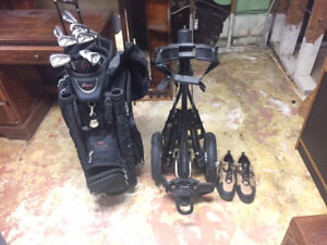 Full set CLUBS / BAG / CART / SHOES - Never Used!!!