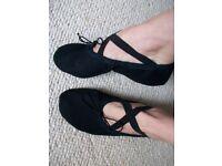 worn used dance slippers xs UK3 =36 LONDON CASH SALE