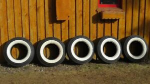 Five Classic Car 3 inch wide white wall tires