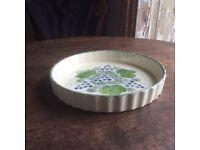 Poole Pottery Vine design Flan Dish