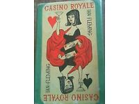 casino royale 1st edition hb book with dj.