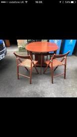 Foldaway table and chair set