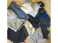 Large bundle of mens clothing size medium or 34 includes Fat face, Gap, Next H&M