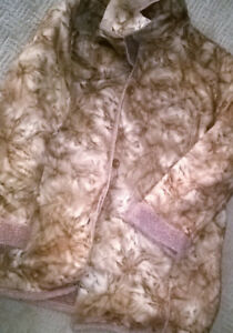 Brown Shearling Faux Fur Jacket Sz XL D & D Collection
