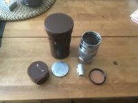 Perfect Canon 135mm Lens for Leica Thread Mount, Viewfinder and Cases