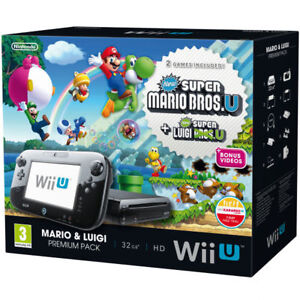 Nintendo Wii U console, with 1 game