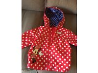 Mothercare girls Minnie Mouse light weight jacket