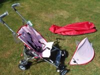 Chicco CT 0.6 Stroller Pushchair (with Raincover, Hood, Instruction Manual)