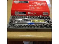 40 piece socket set new