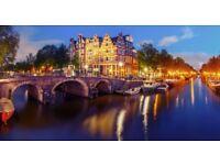 2x Flights+Hotel to Amsterdam 15th Aug-18th Aug