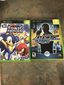 Jeux Sonic Héroes et AGENT 007
