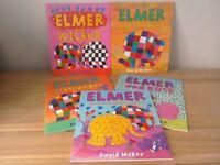 Elmer Elephant Children's Books X 5 WILL POST RRP £34 Brand NEW by David McKee