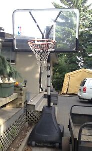 Height-Adjustable Mobile Basketball Hoop