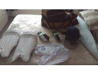 Mens cricket gear- full set