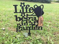 Garden planter sign