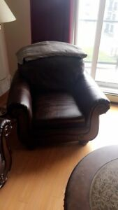 Brown Leather Chair - ASHLEY Furniture