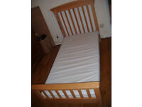 MotherCare Cot Bed/ Toddler Bed Solid Wood