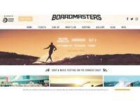 x1 Boardmasters weekend ticket including camping