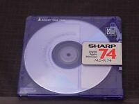 10 X SHARP MD-R-74 BLANK RE-CORDABLE MINI DISCS 74 MINUTES