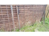 Fence panels handmade in plate steel used, but still very solid