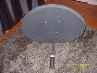 Satellite Dish with Quad LNB