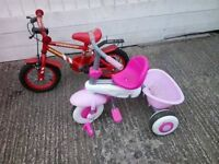 Boy and girl little bikes together ONLY 15 £
