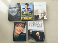 Various hard backed biographies