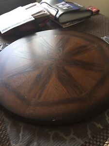 Selling my beautiful wooden table with matching wood lazy Susan