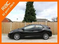 2015 Honda Civic 1.6 i-DTEC Turbo Diesel SE PLUS NAVI 5 Door 6 Speed Sat Nav Rea