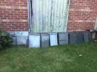 Large quantity of greenhouse glas