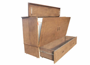 Murphy Bed Cabinet Bed QUEEN includes Mattress New in Box