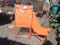 2 brand new deck chairs for sale