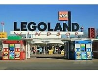 2 TICKETS TO LEGOLAND WINDSOR 10/8/2017