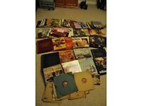 collection of old vinyl records and box sets