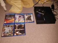 Ps4 1 TB with 5 games