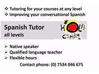 Qualified Spanish (Castellano) tutor, all levels, native speaker