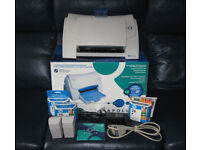 HP Apollo P-1200 inkjet printer, boxed with all leads, disc, 6 HP ink cartridges (2 used) GWO