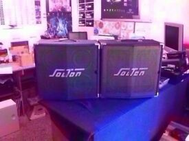 PAIR OF SOLTON POLYVOICE 200,S 180 WATT SPEAKERS