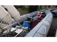 AVON SEARIDER 5.4 RIB 75HP HONDA 4 STROKE, ROAD TRAILER £5750